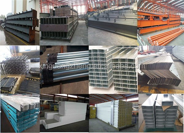 metal colour cladding andwich panel steel structure warehouse