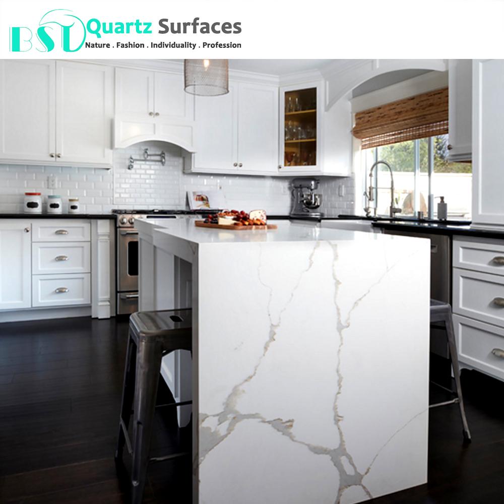 Kitchen White Quartz Countertops With Veins, Kitchen White Quartz ...