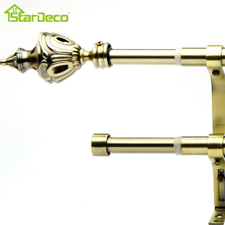 wholesale factory direct sale aluminum double curtain rod kenya