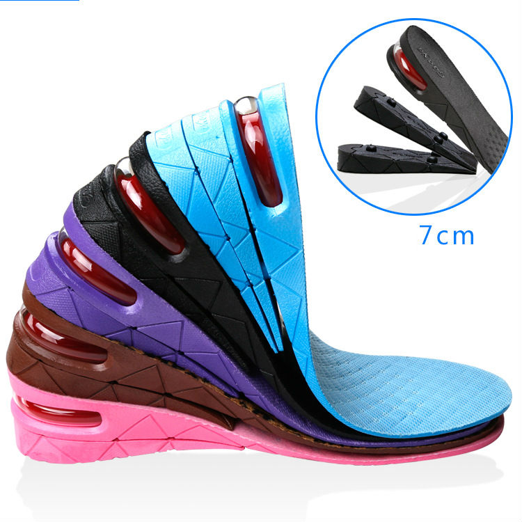 3 layer air cushion height increasing Insole , Secret Height Increase Heel Lift Shoe