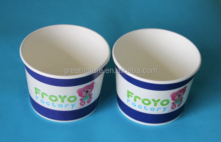 Custom printed paper ice cream container/tub/pot