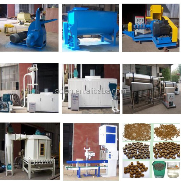 Stable working solon pet food processing machine dry fish for poultry feed extruders pet food
