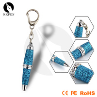 Shibell 2 in 1 promotional mini ballpoint pen with beatiful keychain