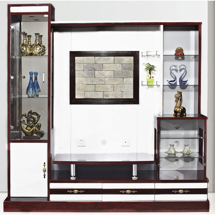 Modern Wood Wall Panel With Lcd Unit 9906 Home Furniture