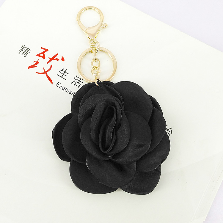 New fabric pearl flower keychain for lady bag car <strong>key</strong>