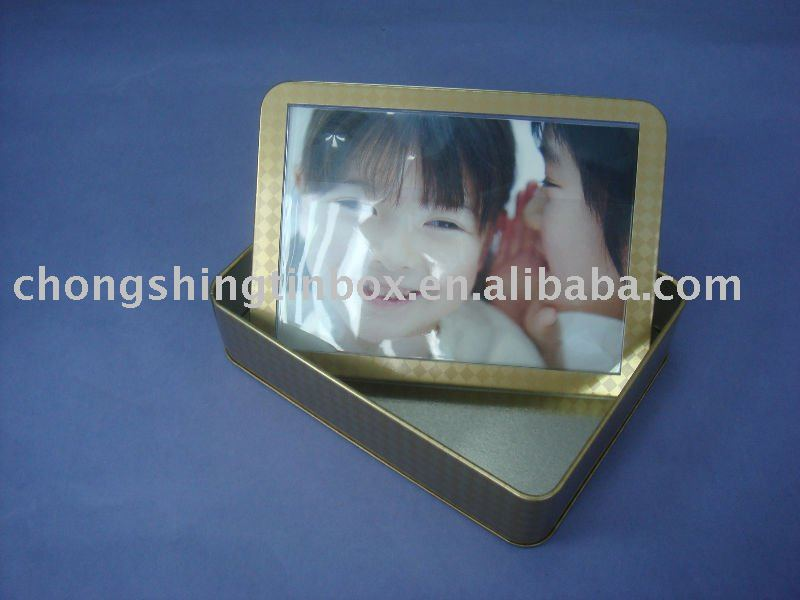 New-design,Gift Tin Box With Clear Window. Photo Fram