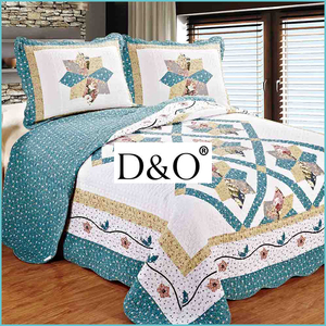 100% cotton printing patchwork quilt bedspread