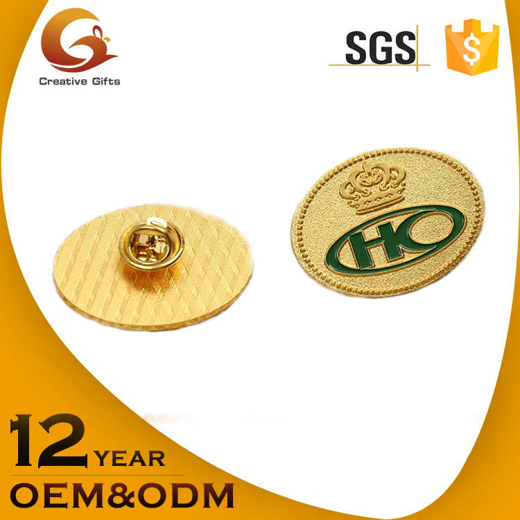 Making your logo custom 2d brass stamping lapel pin making supplies