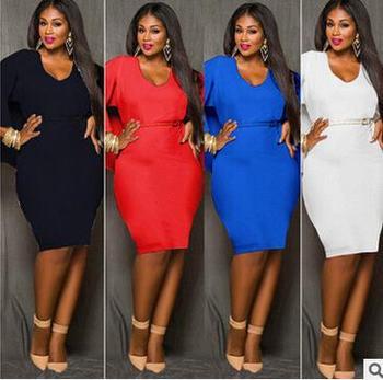 f73848a30 Fat Woman design dresses western fashion ladies cloak new casual plus size  dress