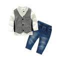 Hot 2016 baby boy clothing spring and autumn period kind of boy shirt waistcoat trousers 3