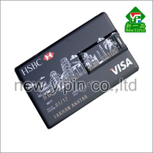 Custom brand logo printing card usb low price 8gb usb card blank usb card flash drive