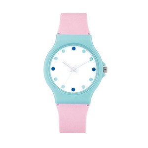cheap watch with colorful silicon strap