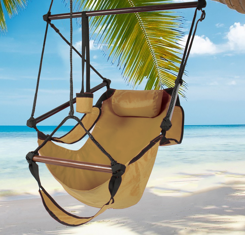 Hammock Hanging Chair Air Deluxe Sky Swing Outdoor Chair Solid Wood