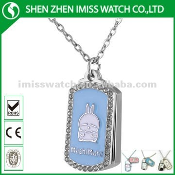 Stainless steel necklace kids watch(LMT-94032)