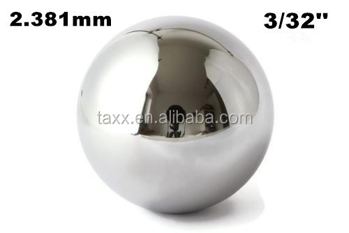 2.381mm Steel bearing balls GCr15 G100/chrome steel balls