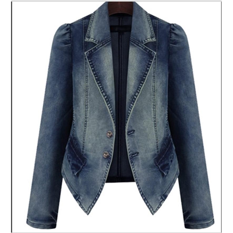 Compra con volantes chaqueta de mezclilla online al por