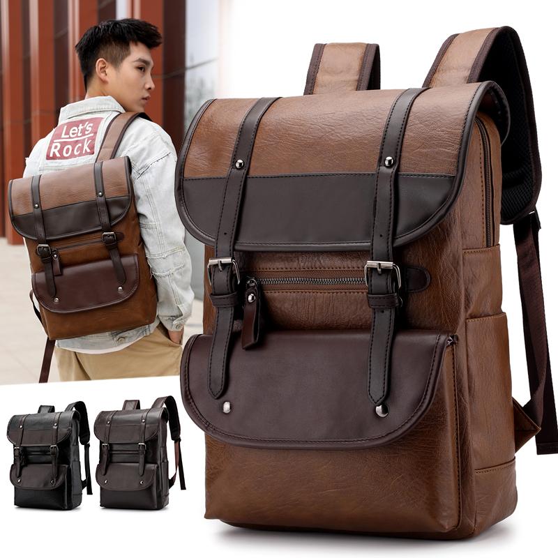 Venta al por mayor leather backpacks for men Compre online