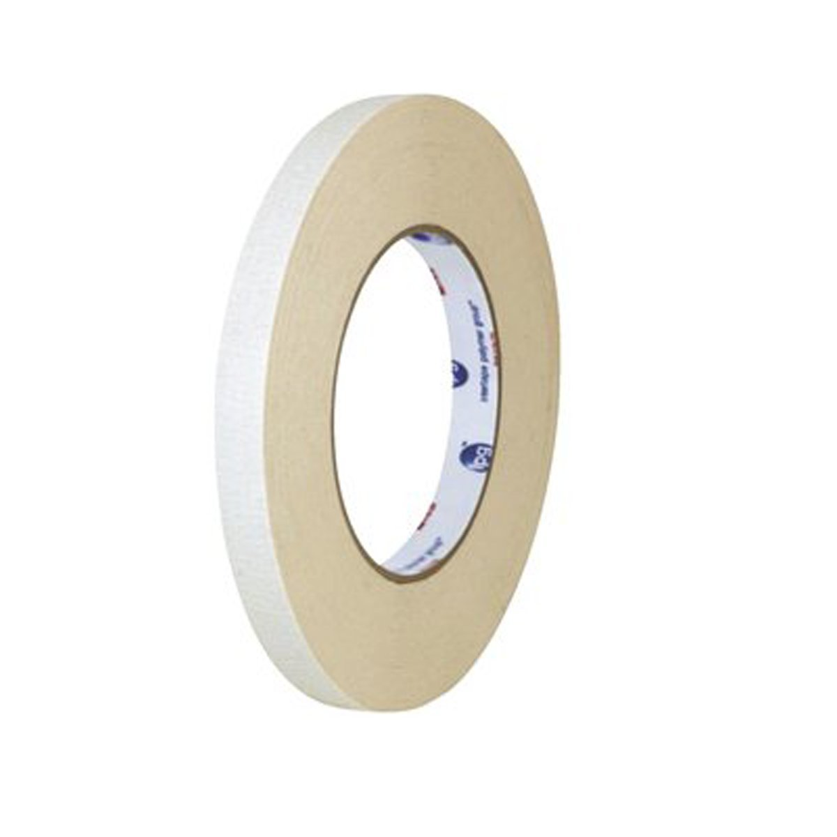 "Double Coated Flatback Paper Tape 7.0 mil - Rubber Adhesive (52307) (3/4"" (18mm))"