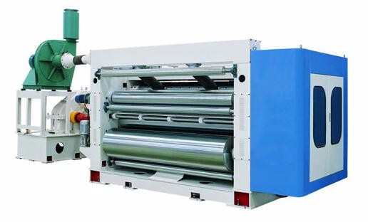 Factory price steam heating single facer/corrugated cardboard production line/carton packaging machine