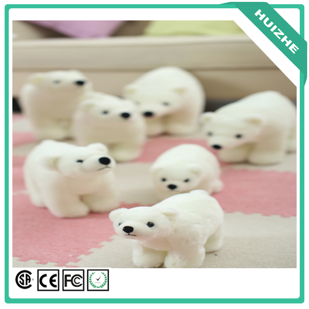 2016 new plush soft mini polar bear cute white bear animal shaped toy