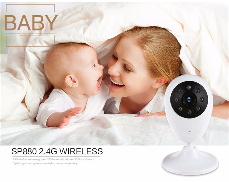 2.4 Inch 2.4GHz Wireless Video Color Baby Monitor 2 Way HD Baby Nanny Security Camera IR Night Vision Temperature Monitoring cam