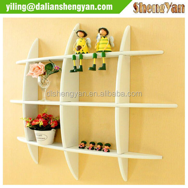 Wooden Display Shelf Diy Wall Cube Shelves Storage Shelving Unit