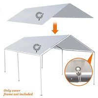 Customized outdoor Foldable Waterproof Sunshade replacement car protector parking Canopy Tent Garage Tarp Top Shelter Cover sale