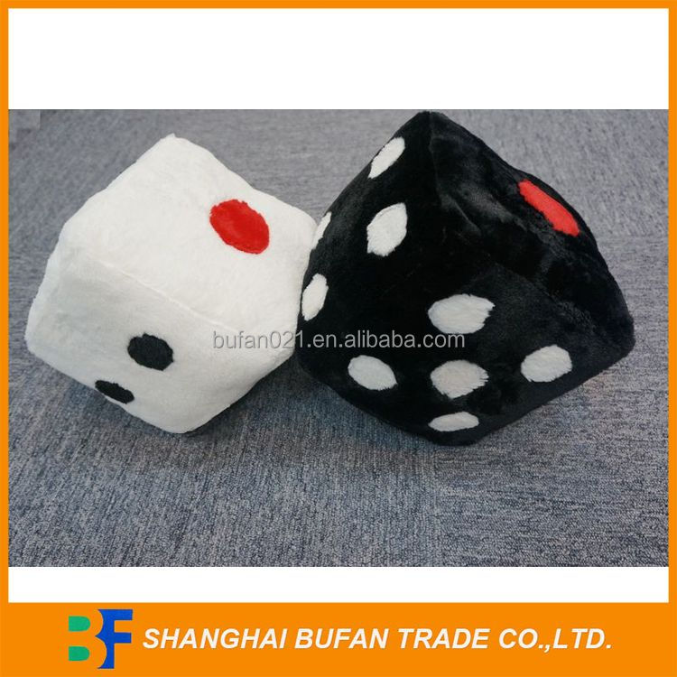 China factory price attractive fashion mini stuffed plush dice toy
