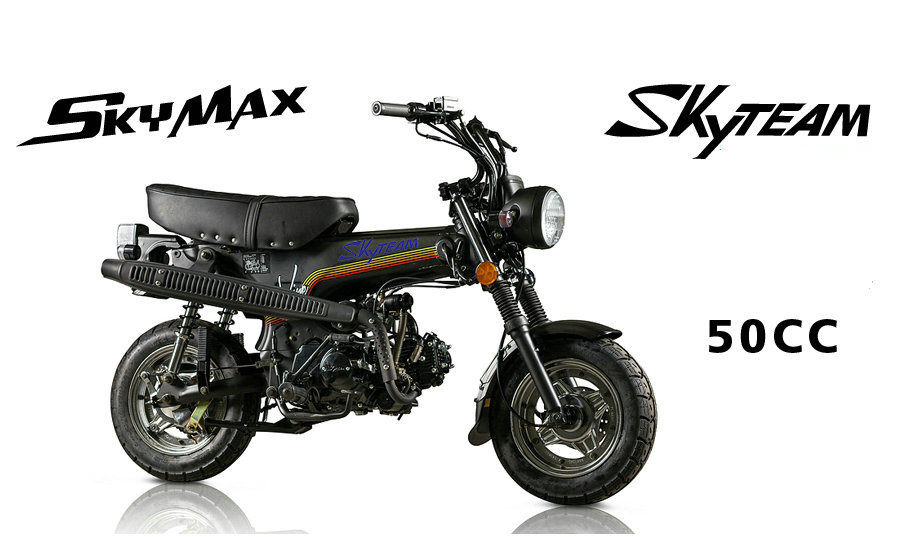 SKYTEAM 50cc 4 stroke SKYMAX Fuel injection dax motorcycle(EEC Euro5 E4 APPROVAL) with NEW 5.5L BIG FUEL TANK