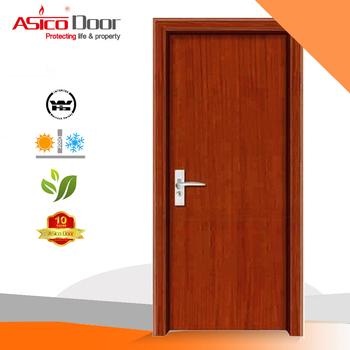 ASICO Mahogany Veneer Solid Wooden Flush Door For Interior