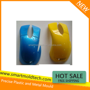 UV varnished mouse cover by plastic injection mold