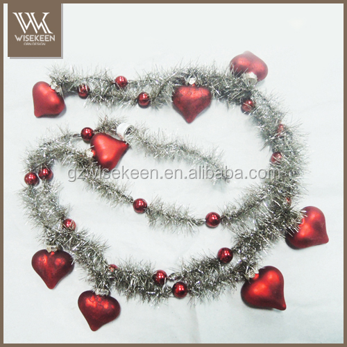 Glass christmas tree garland perfect vintage