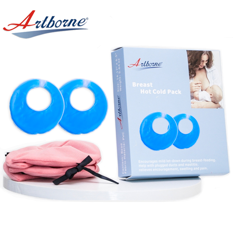 Gel Reusable Hot Nursing Therapy Pack Breast Cold Pads