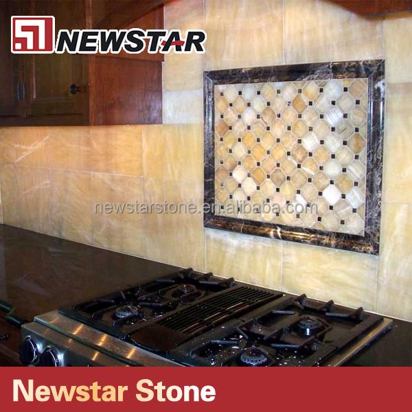 Newstar Polished Honey Onyx Backsplash