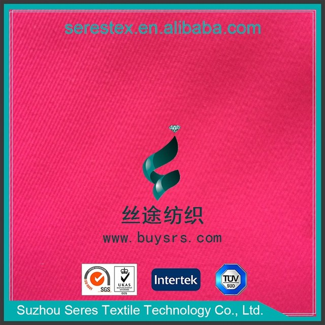 wholesale waterproof breathable fluorescence pink color 2/2 twill pongee fabric bonded with TPU milky film for outdoor garment,w