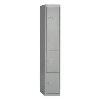 Modern Portable 4 Door Vintage Iron Closet Tall Thin Emplyee Storage