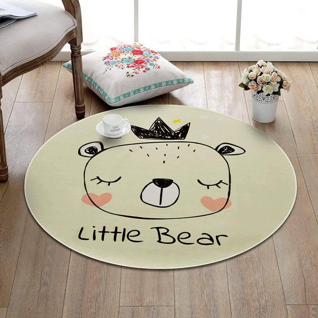 Get Quotations Children Cartoon Round Rug Living Room Bedroom Floor Carpet Crawling Skin Friendly Environmentally