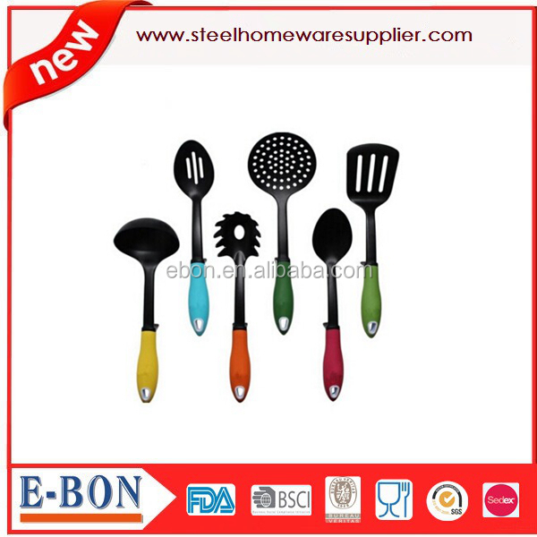 Kitchen Utensils Cooking Set Includes 7 Pieces Non-stick Cookware Gadgets - Soup Ladle Skimmer Slotted Spoon