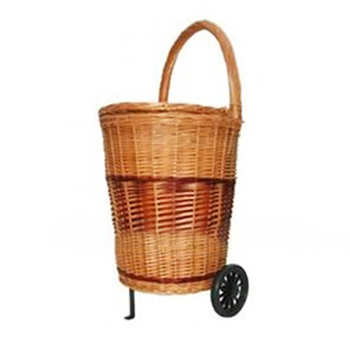 Wheels Wicker Ping Baskets