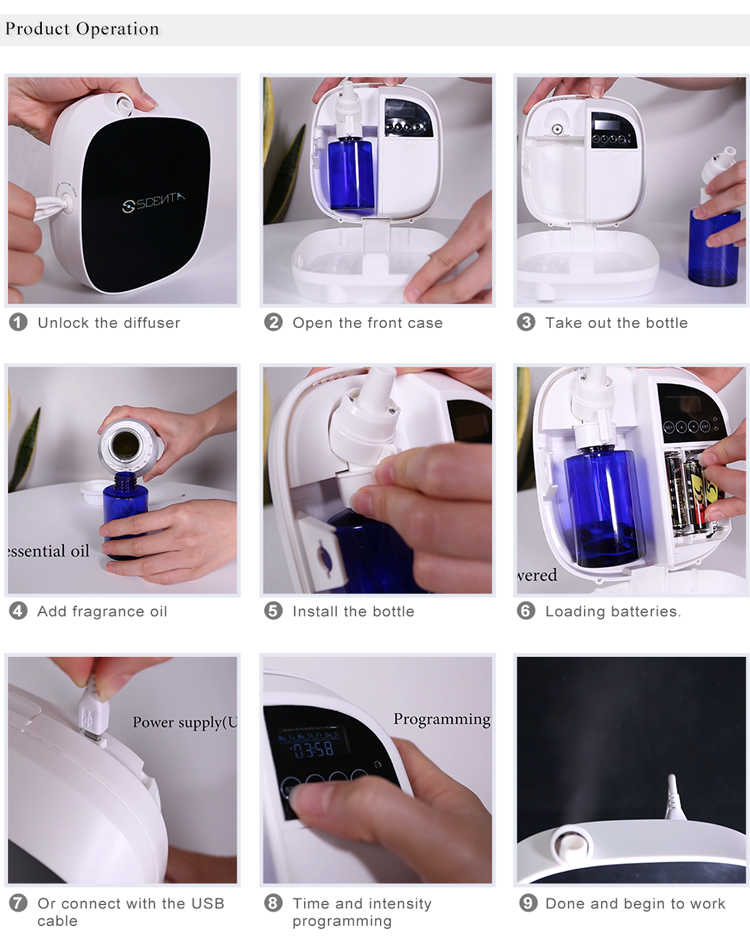 Smart App controlled aroma Air diffuser scent machine