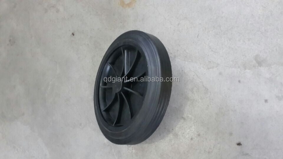 8 inch solid rubber wheels for trash bin