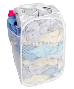 White Modern Folding And Collapsible Whole Laundry Products Basket Pop Up Hamper
