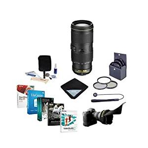 Nikon 70-200mm f/4G ED AF-S VR Zoom NIKKOR Lens - USA Warranty - Bundle with 67mm Filter Kit, Flex Lens Shade, Cleaning Kit, Lens Cap Leash, Lens Wrap, Professional Software Package