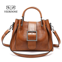 2018 Brown PU Leather Women Bags Wholesale Handbag China Fashion Bags Ladies Handbags