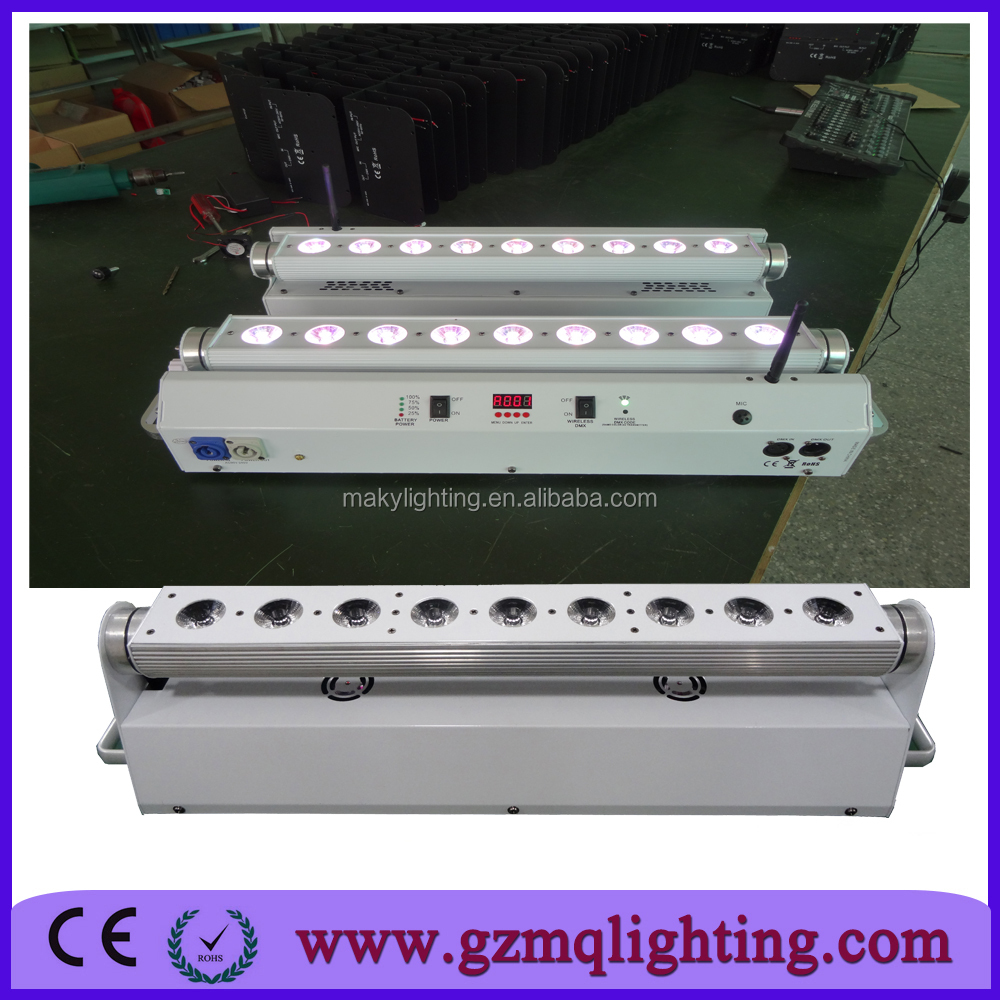2016 new product cheap battery powered led washer light bar 6 in 1 moving head wall wash light. Black Bedroom Furniture Sets. Home Design Ideas