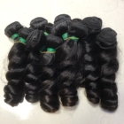 Grade 10a bulk double drawn raw wholesale human unprocessed brazilian bundles loose wave virgin cuticle aligned hair