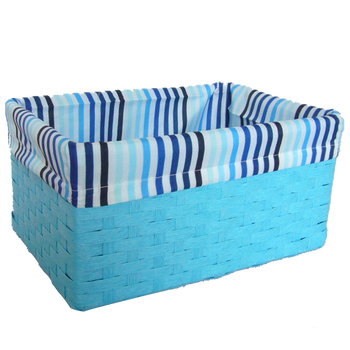 Paper rope basket with liner for storaging or decorative