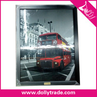 30*40cm England bus antique style black picture photo frame