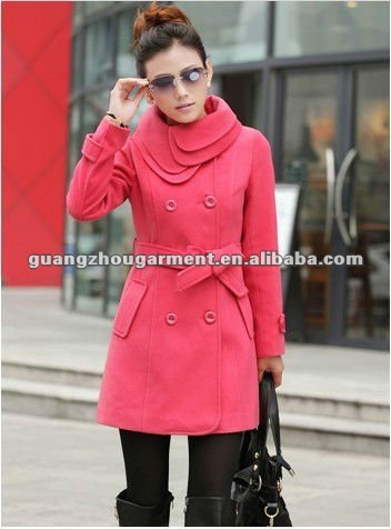 OEM 2012 hot selling cashmere coat for women