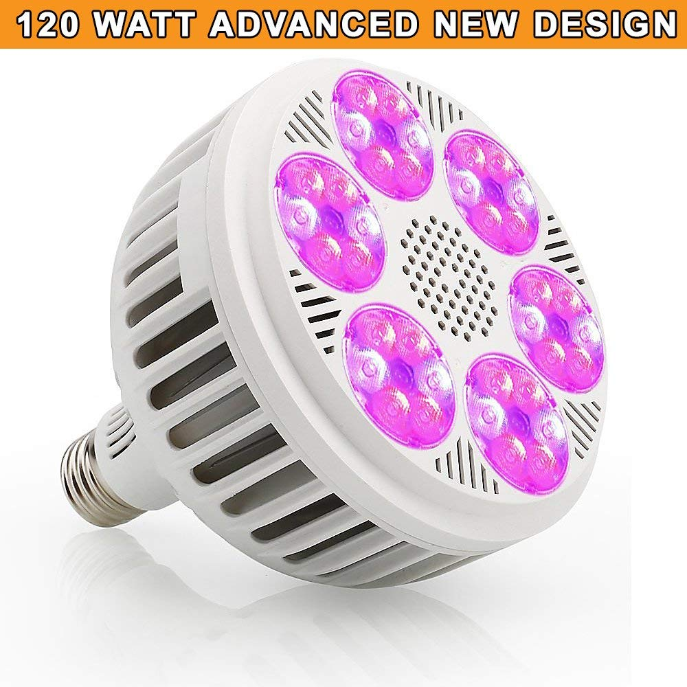 Zotron LED Grow Light 120W, Newest Technology LED Grow Light Bulbs for Greenhouse, Indoor Plants and Hydroponic Garden, Industrial Grade Growing Lamps